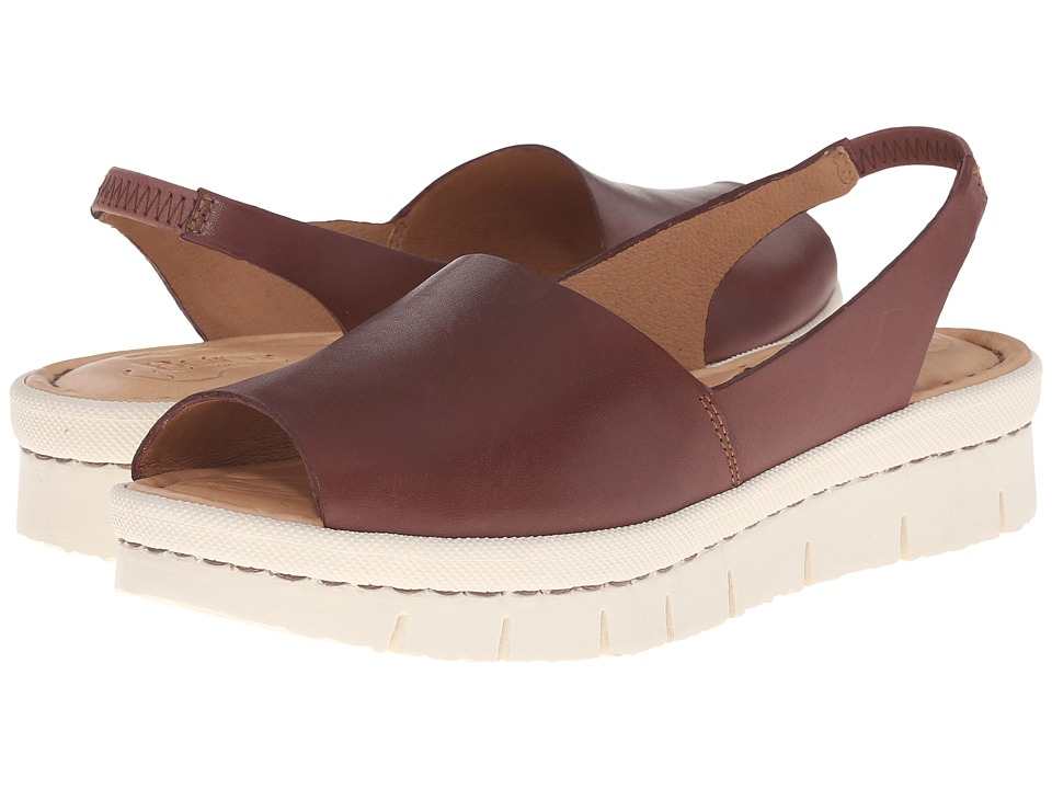 Born - Henny (Brown Full Grain Leather) Women's Sling Back Shoes