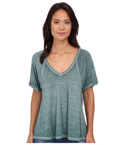 Free People - Tri-Blend Free Fallin (Dark Emerald) Women's Clothing
