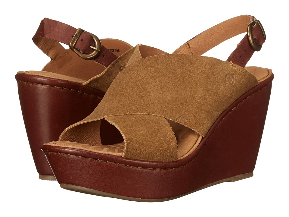 Born - Emmy (Dijon/Brown) Women's Wedge Shoes