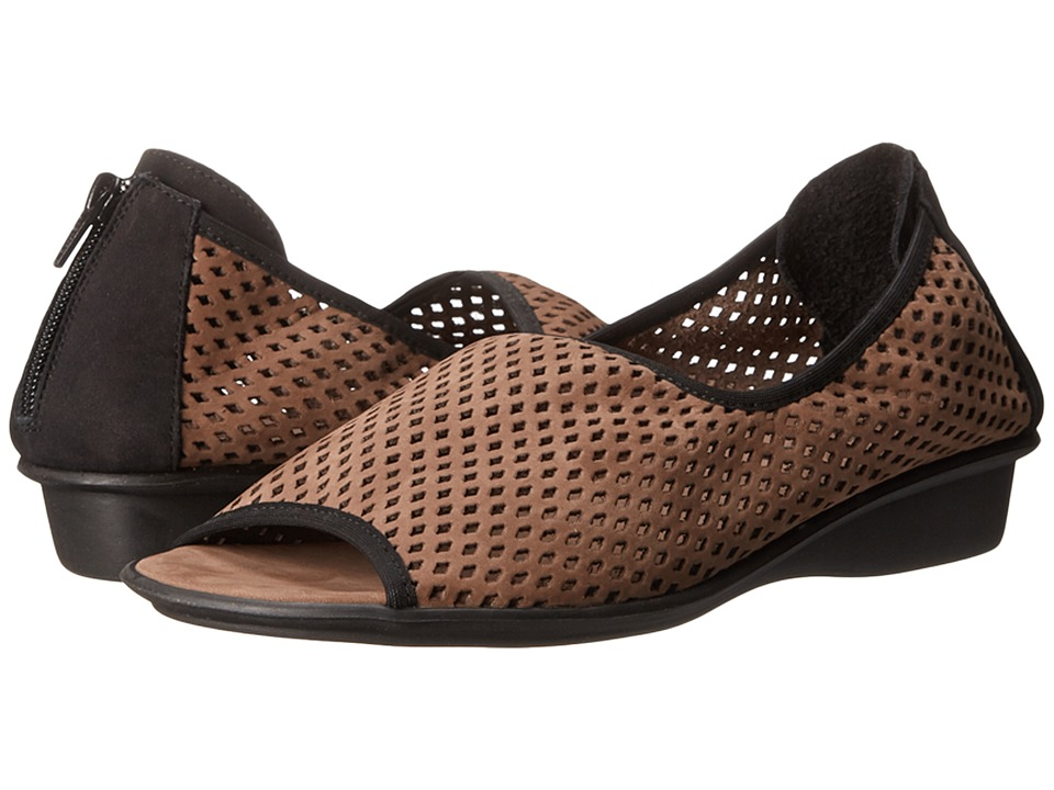 Sesto Meucci - Elyce (Dark Taupe Nabuk/Black Nabuk) Women's Shoes
