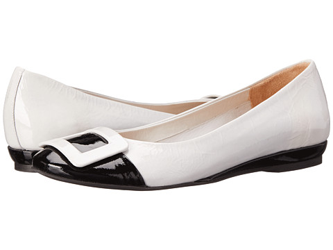 Sesto Meucci - Stina (White Patent/Black Patent) Women's Shoes