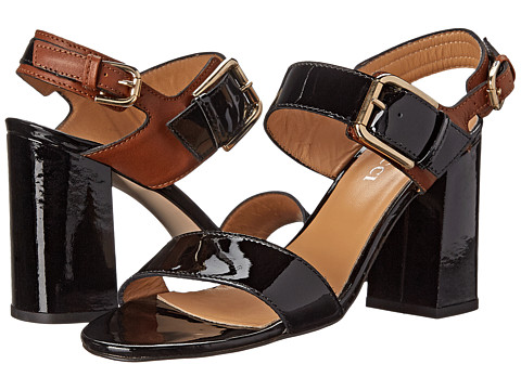 Sesto Meucci - 1 (Black Patent/Tan Onda Calf) Women's Shoes