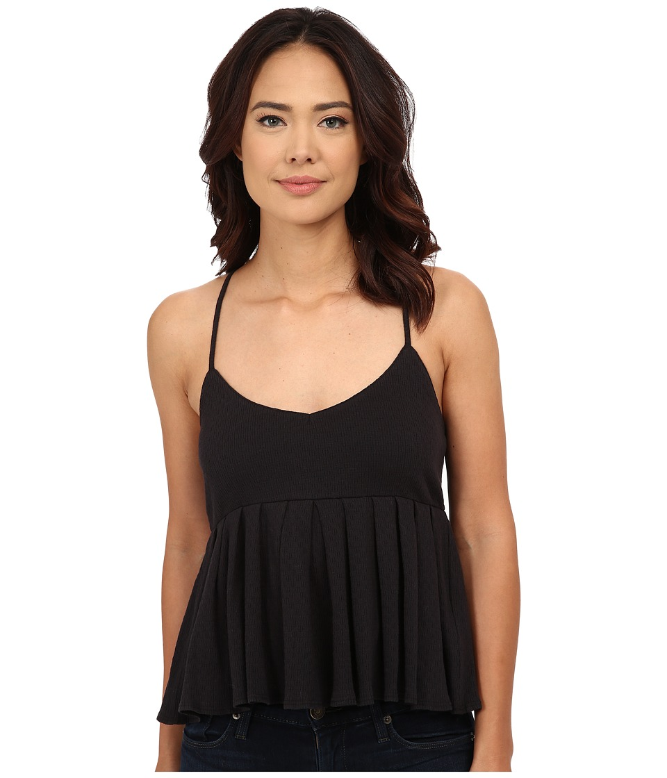 Volcom - Baby Kiss Me Cami Top (Black) Women's Sleeveless