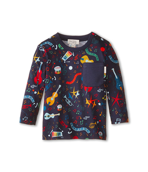 Paul Smith Junior - Music Instrument All Over Print T-Shirt (Infant/Toddler) (Dark Navy) Boy's T Shirt