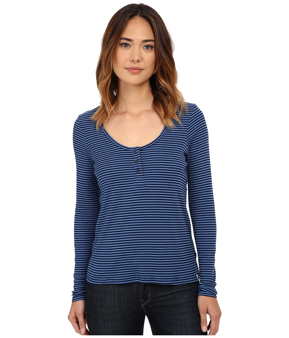 Volcom - Possession Long Sleeve Top (Midnight Blue) Women's T Shirt