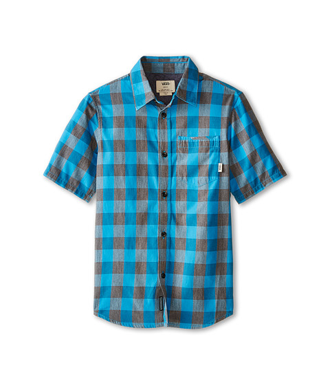 Vans Kids - Milton Short Sleeve Shirt (Big Kids) (Pirate Black/Maliblue) Boy's Short Sleeve Button Up