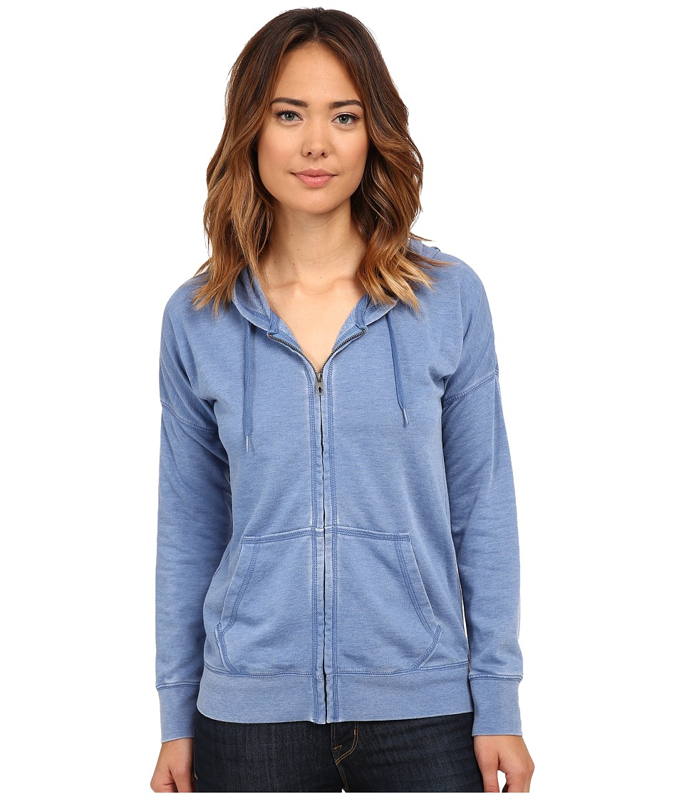 Volcom - Lived in Fleece Zip Top (Royal) Women's Long Sleeve Pullover