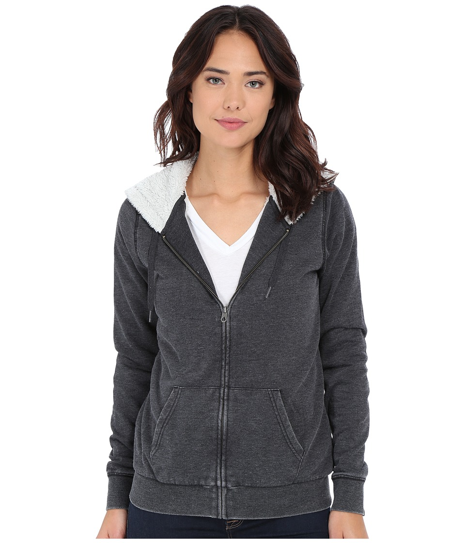 Volcom - Lived in Sherpa Zip Hoodie (Black) Women's Sweatshirt