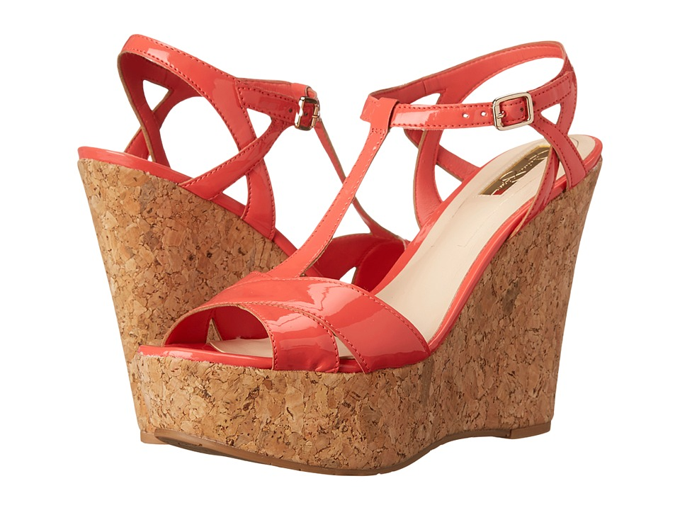 Jessica Simpson - Ellrose (Sweet Grapefruit Patent) Women's Wedge Shoes