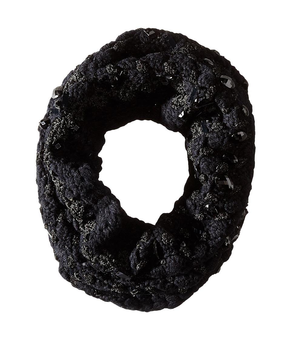 BCBGMAXAZRIA - Crystal Crochet Cowl (Black) Scarves