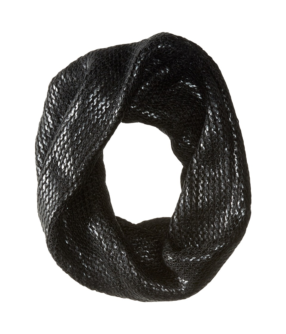 BCBGMAXAZRIA - Foil Printed Twisted Cowl (Black) Scarves