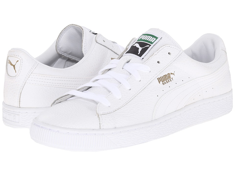 PUMA - Basket 3D Fast FWD (White) Men's Shoes