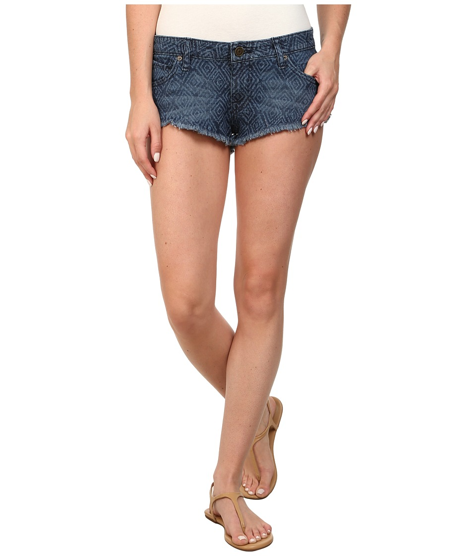 Volcom - Yae Micro Shorts (Washed Blue) Women's Shorts