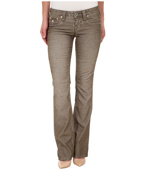 True Religion - Becky Corduroy Bootcut Jeans Pants in Army Green (Army Green) Women