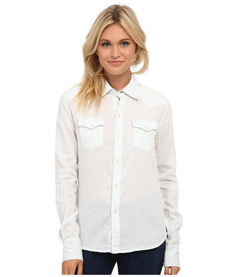 True Religion - Lonestar Western Shirt (Bandidas Blue) Women's Clothing