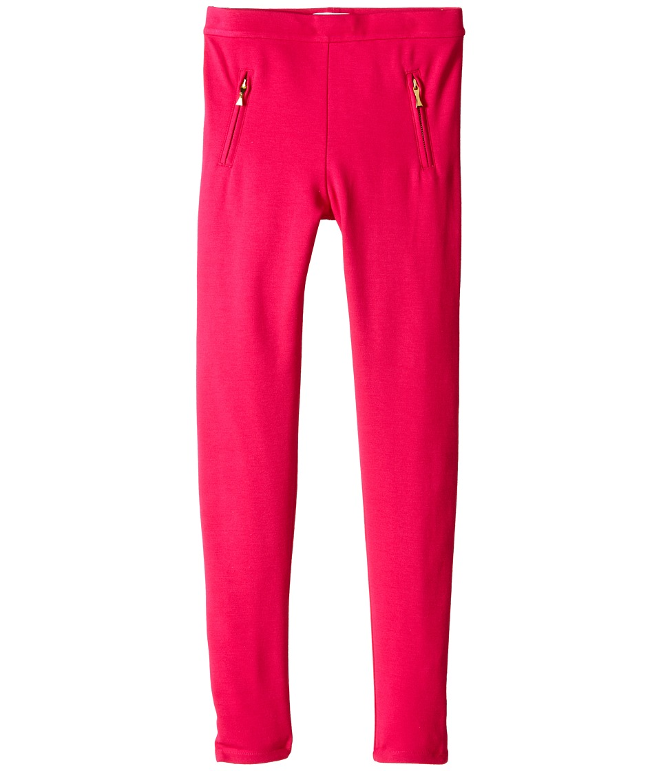 Kate Spade New York Kids - Leggings w/ Zipper Welts (Big Kids) (Sweetheart Pink) Girl's Casual Pants
