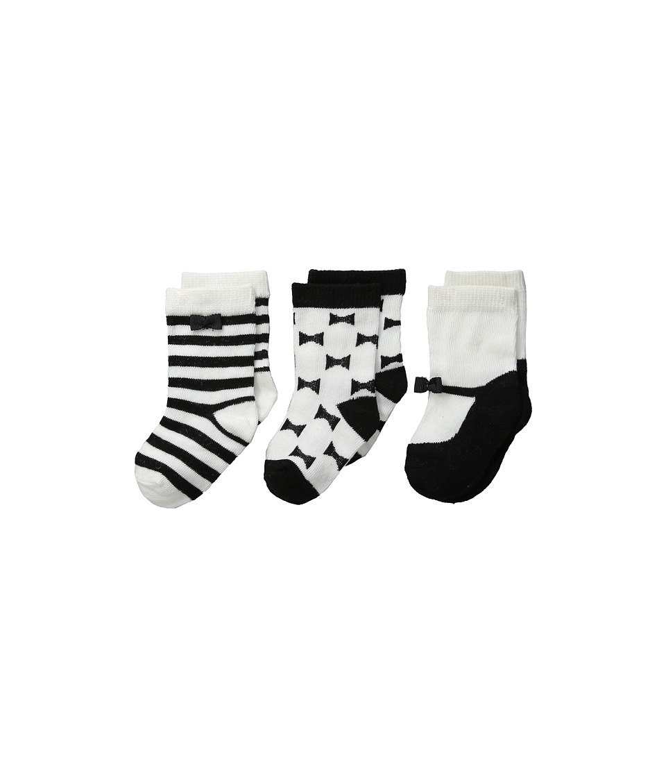 Kate Spade New York Kids - Sock 3-Pack (Black/Cream) Girls Shoes