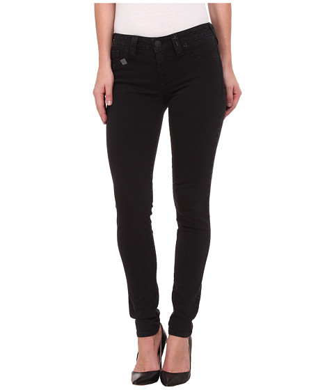 True Religion - Halle Crystal Stitch Jeans in Black (Black) Women