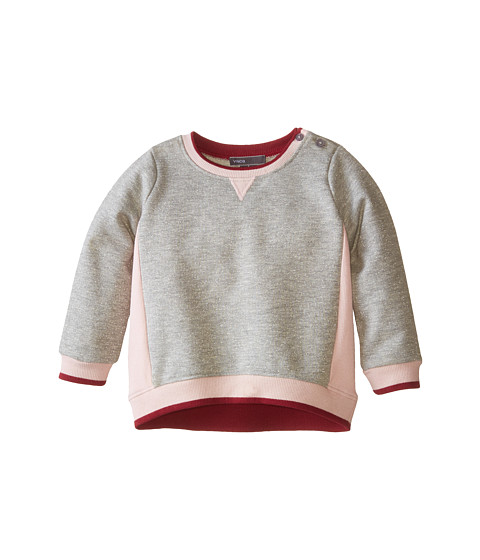 Vince Kids - Luxe Color Blocked Tunic (Infant) (Heather Cloud/Pink Rose/Merlot) Girl