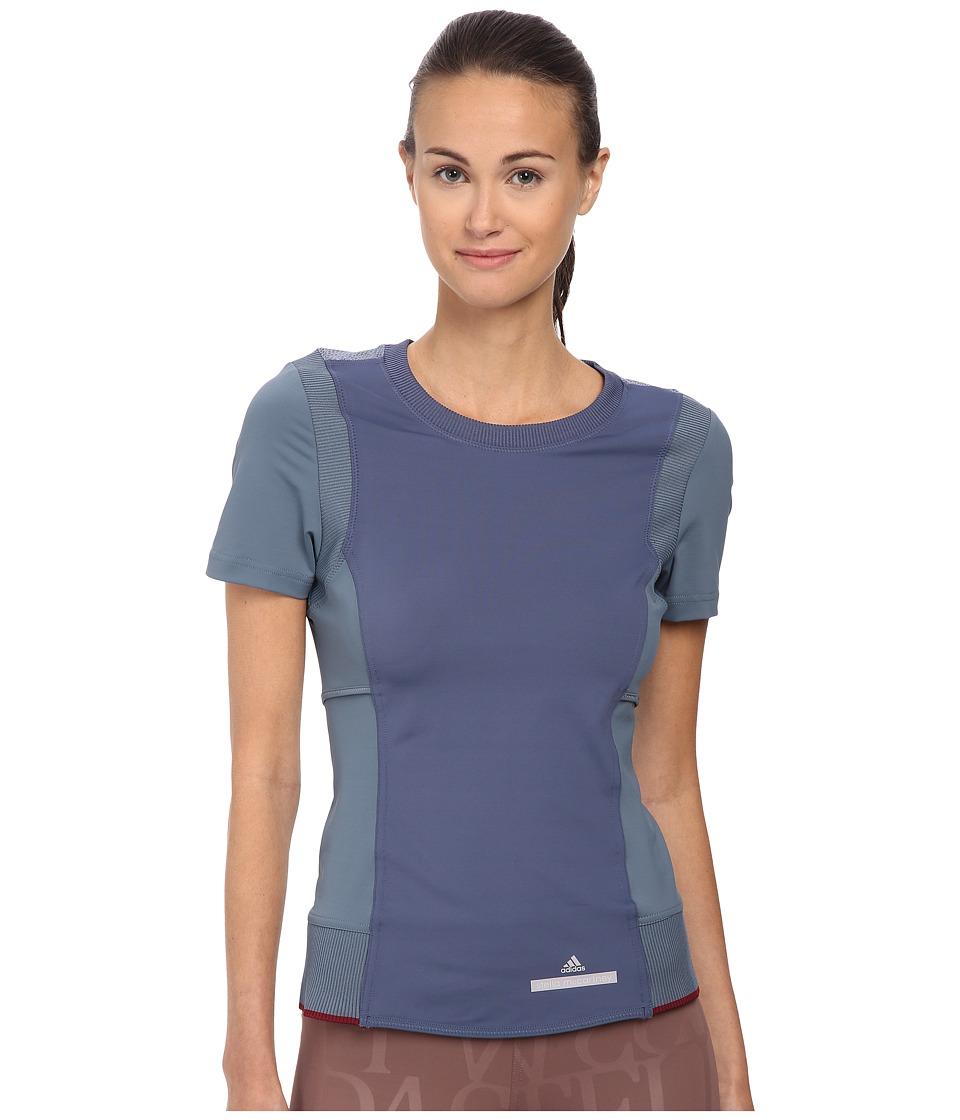 adidas by Stella McCartney - Perf Run Tee AA7833 (Blue Grey/Power Steel) Women's Workout