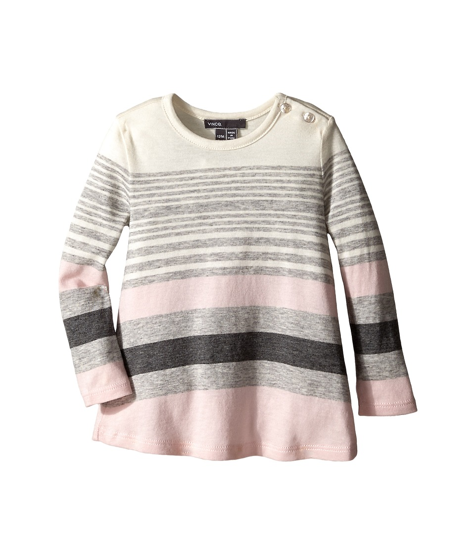 Vince Kids - Variegated Stripe Tunic (Infant) (Mist/Heather Steel/Pink Rose/Heather Carbon) Girl