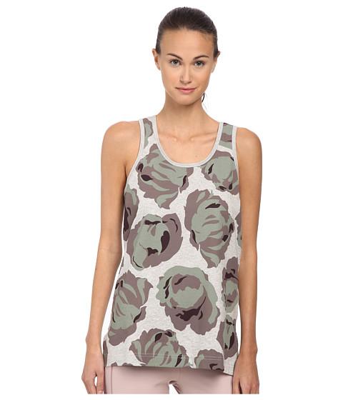 adidas by Stella McCartney - Essential Graphic Tank Top AC2978 (Pearl Grey Heather) Women