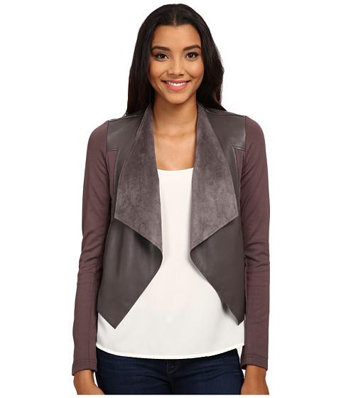 KUT from the Kloth - Faux Leather Drape Jacket (Pavement) Women