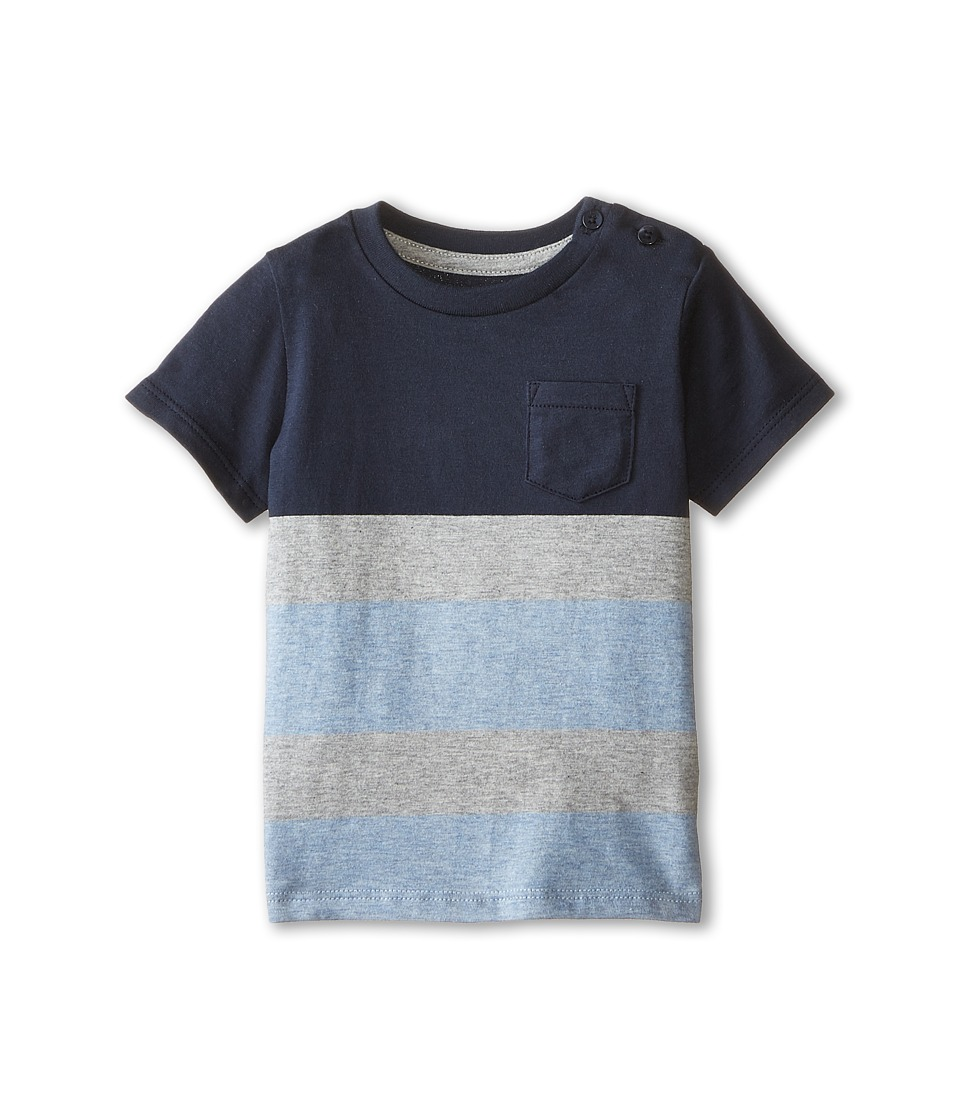 Vince Kids - Favorite Crew Neck Tee (Infant) (Coastal/Heather Steel/Heather Brittany Blue) Boy