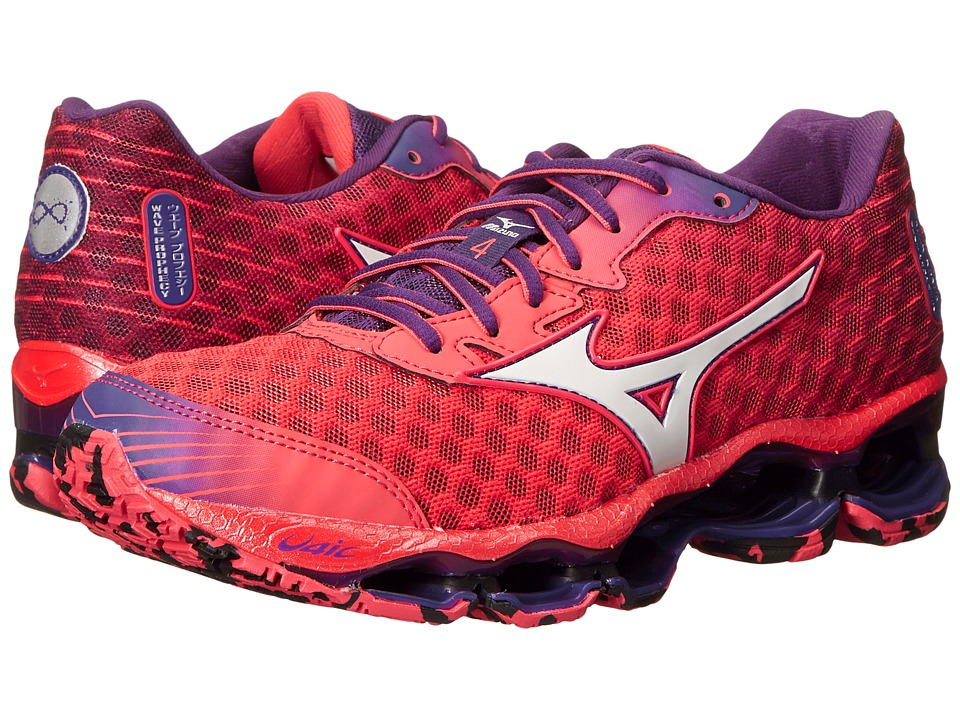 Mizuno - Wave Prophecy 4 (Cayenne/White/Pansy) Women's Shoes