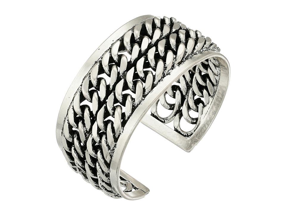 Lucky Brand - Silver Chain Cuff Bracelet (Silver) Bracelet