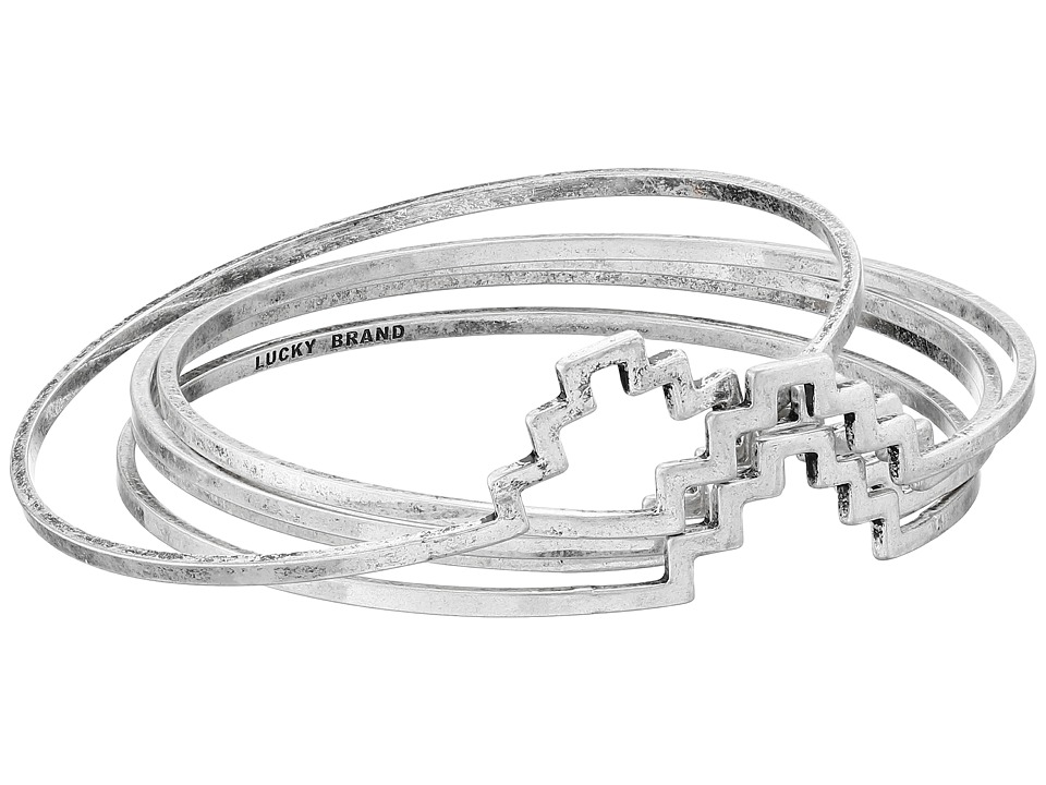 Lucky Brand - Silver Geo Bangle Set (Silver) Bracelet
