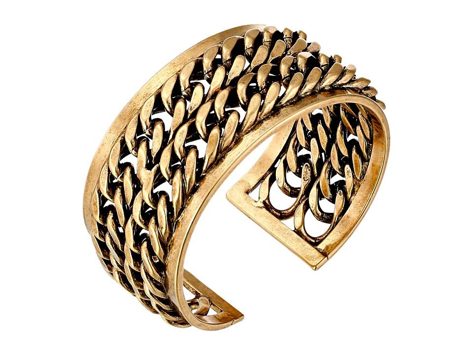 Lucky Brand - Gold Chain Cuff Bracelet (Gold) Bracelet