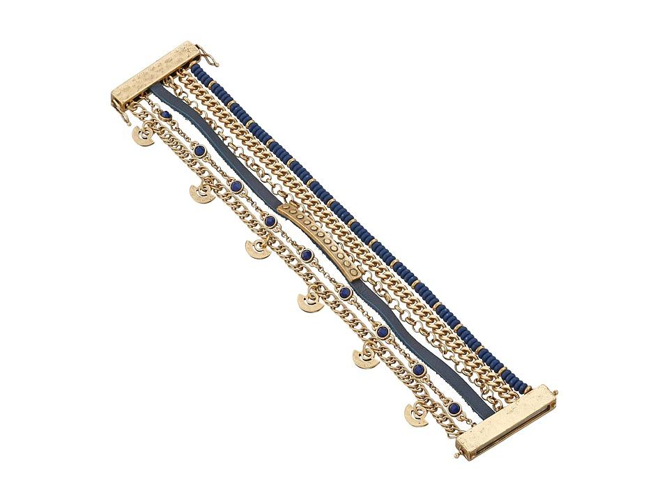 Lucky Brand - Navy Lucky Layer Bracelet (Gold) Bracelet