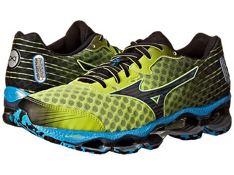 Mizuno - Wave Prophecy 4 (Lime Punch/Dude Blue/Black) Men's Shoes