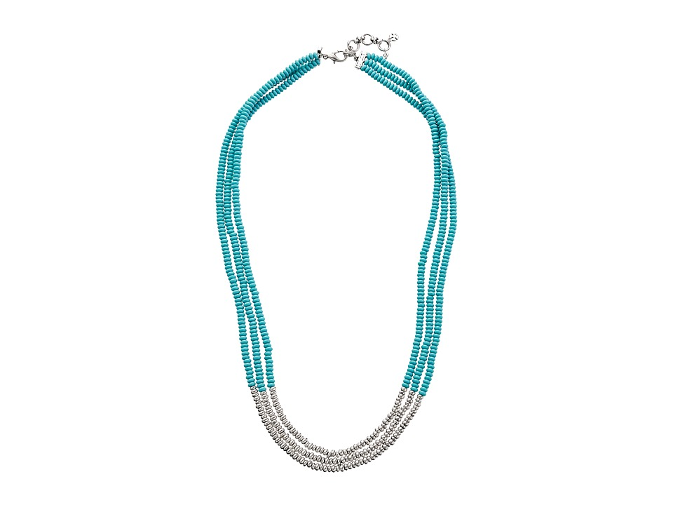 Lucky Brand - Turquoise Beaded Necklace (Silver) Necklace