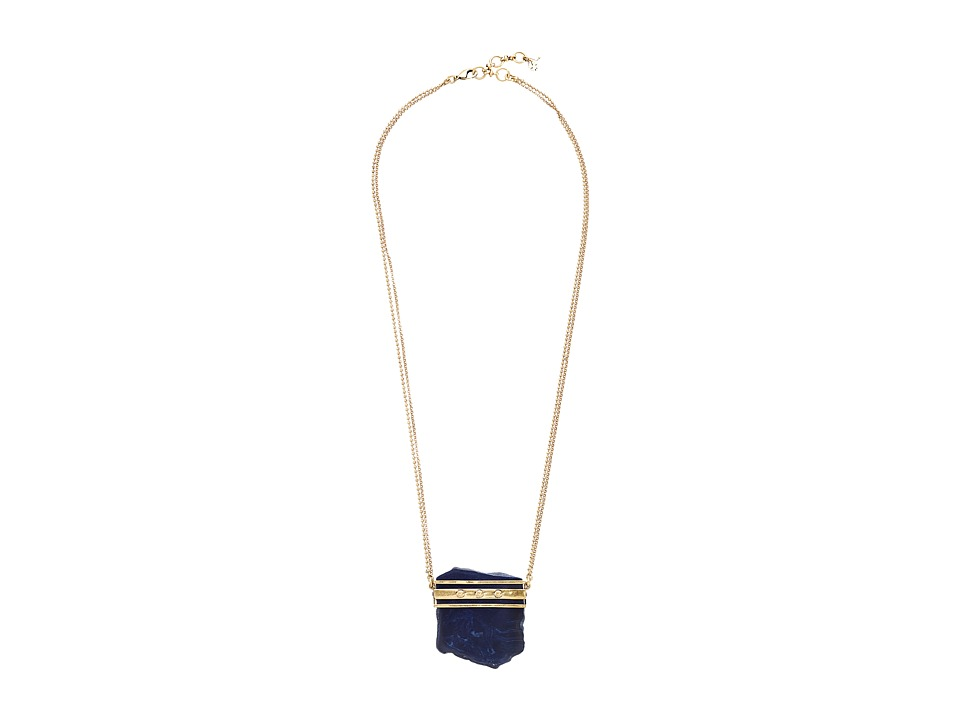 Lucky Brand - Lapis Organic Pendant Necklace (Gold) Necklace
