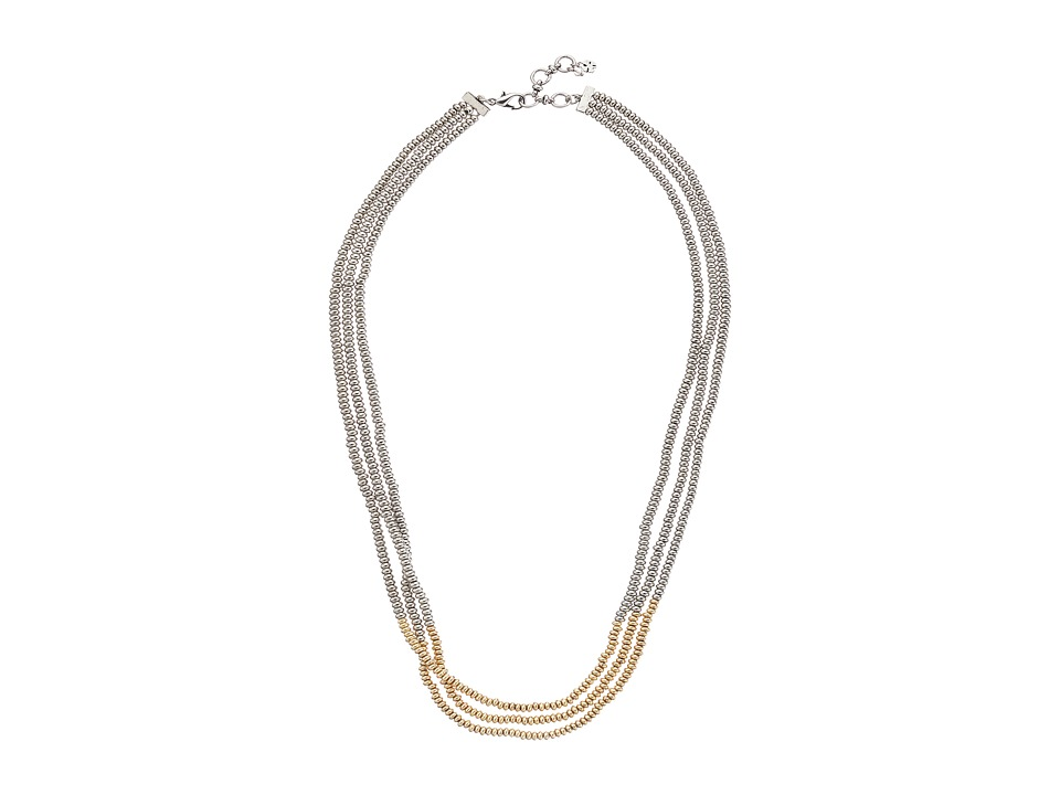 Lucky Brand - Two-Tone Beaded Necklace (Two-Tone) Necklace