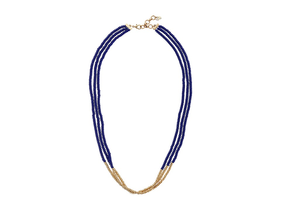 Lucky Brand - Lapis Beaded Necklace (Gold) Necklace