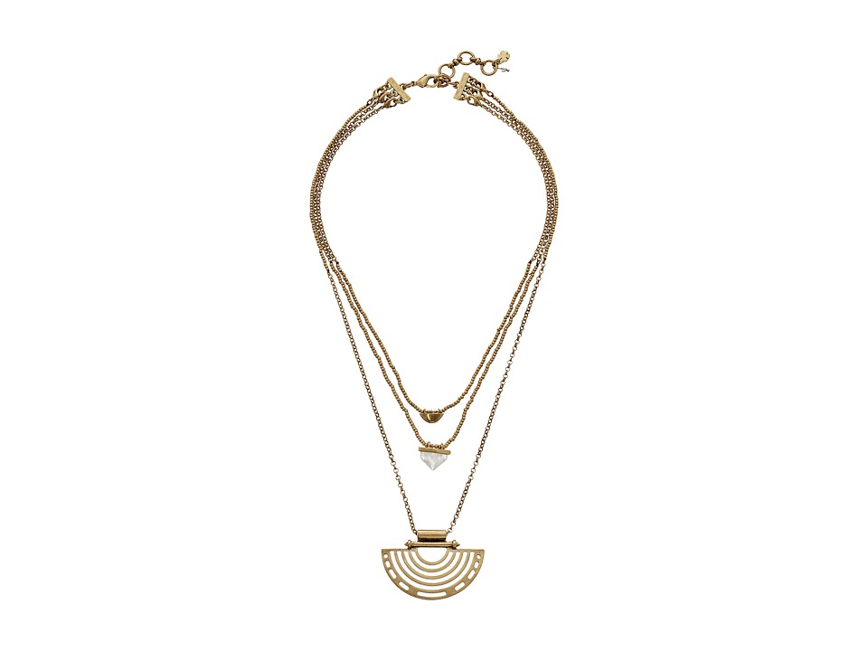 Lucky Brand - Gold Geo Lucky Layer Necklace (Gold) Necklace