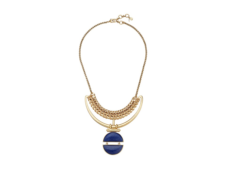 Lucky Brand - Lapis Bold Collar Necklace (Gold) Necklace