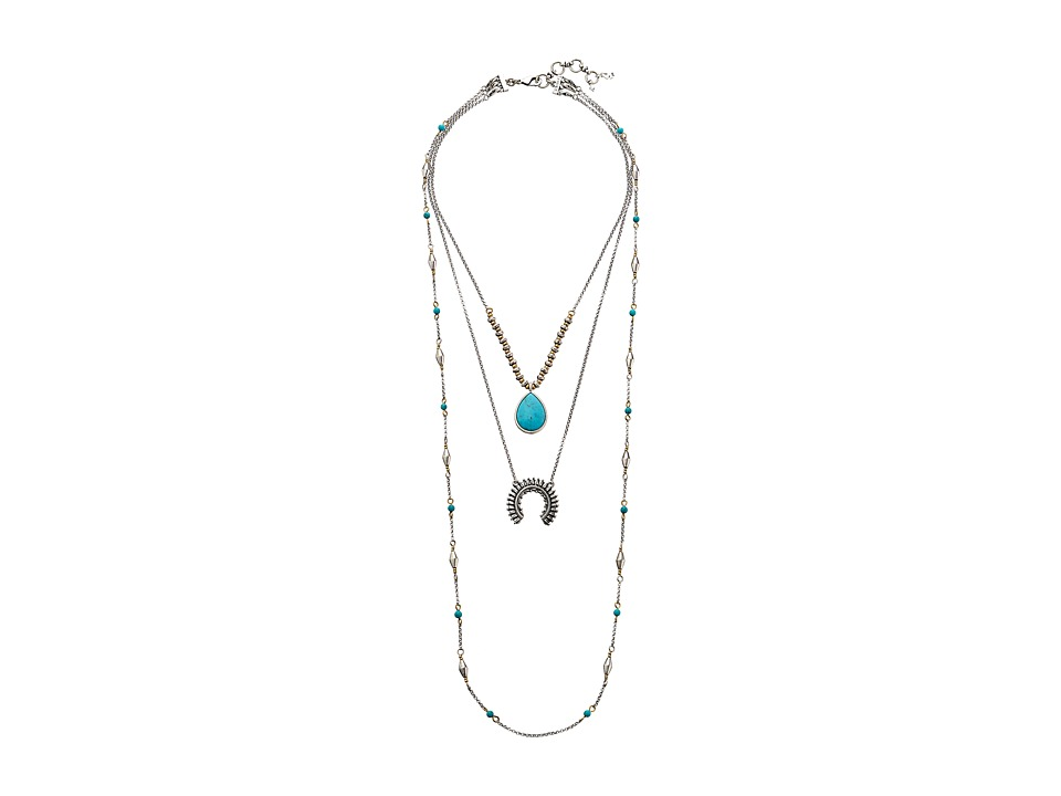 Lucky Brand - Squash Blossom Lucky Layer Necklace (Silver) Necklace