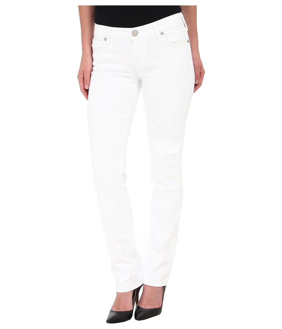 True Religion - Cora Slim Jean Straight Jeans in Optic White Jasmine (Optic White Jasmine) Women