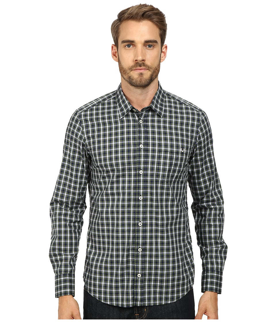 True Religion - James Shirt (Green/Blue Check) Men's Clothing