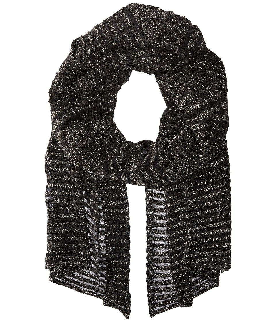 M Missoni - Solid Lurex Scarf (Black) Scarves