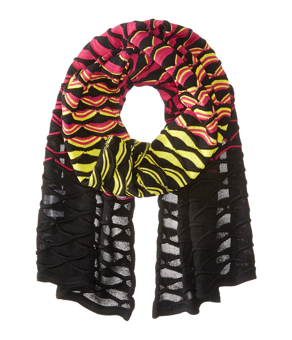 M Missoni - Gradiant Fan Scarf (Fuchsia) Scarves