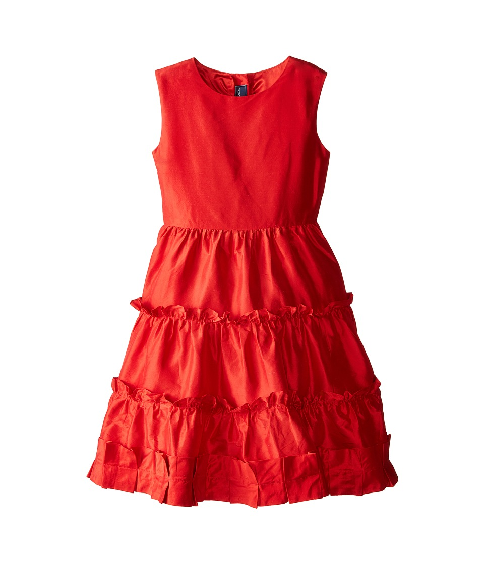 Oscar de la Renta Childrenswear - Taffeta Multi Ruffle Dress (Toddler/Little Kids/Big Kids) (Barn Red) Girl's Dress