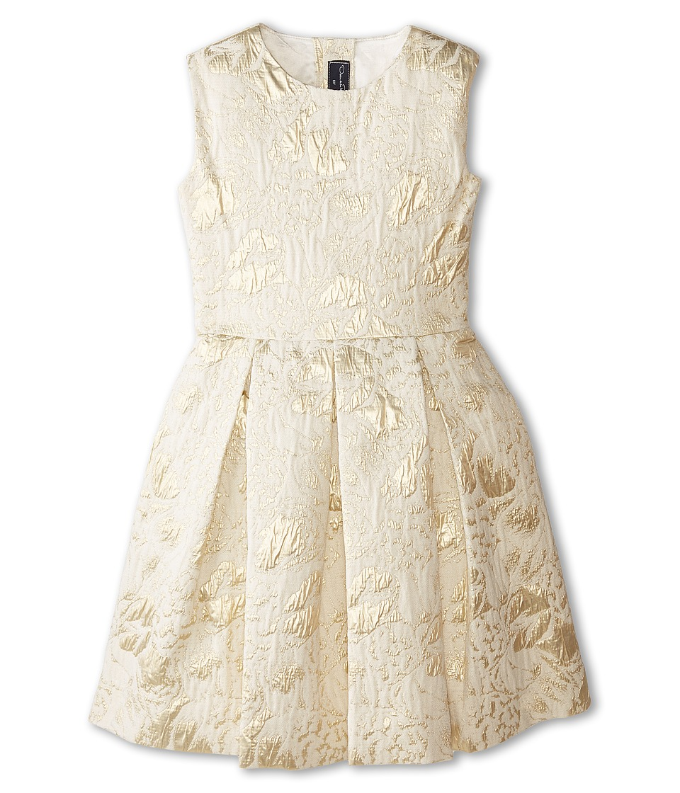 Oscar de la Renta Childrenswear - Jacquard Party Dress (Toddler/Little Kids/Big Kids) (Gold) Girl