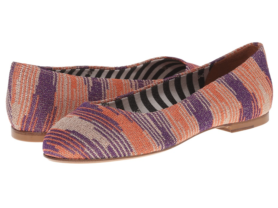 M Missoni - Lurex Spacedye Shoe (Coral) Women's Slip on Shoes