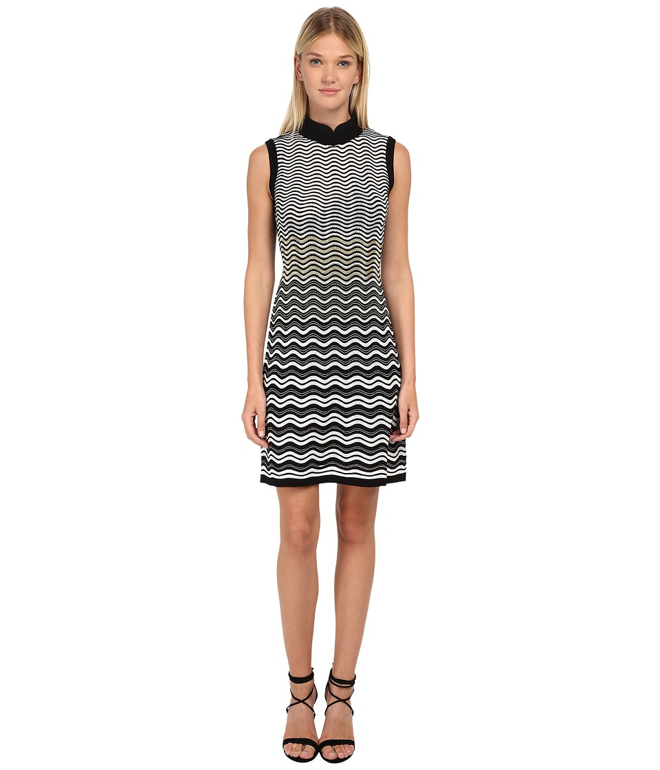 M Missoni - Ripple Stitch Sleeveless Dress (Black) Women's Dress