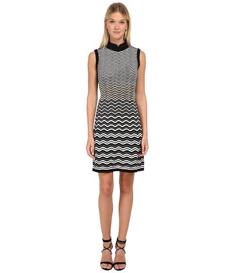 M Missoni - Ripple Stitch Sleeveless Dress (Black) Women's Dress
